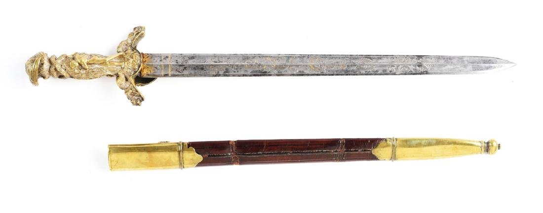 Fine German Presentation Hirschfänger Hunting Sword. - 3