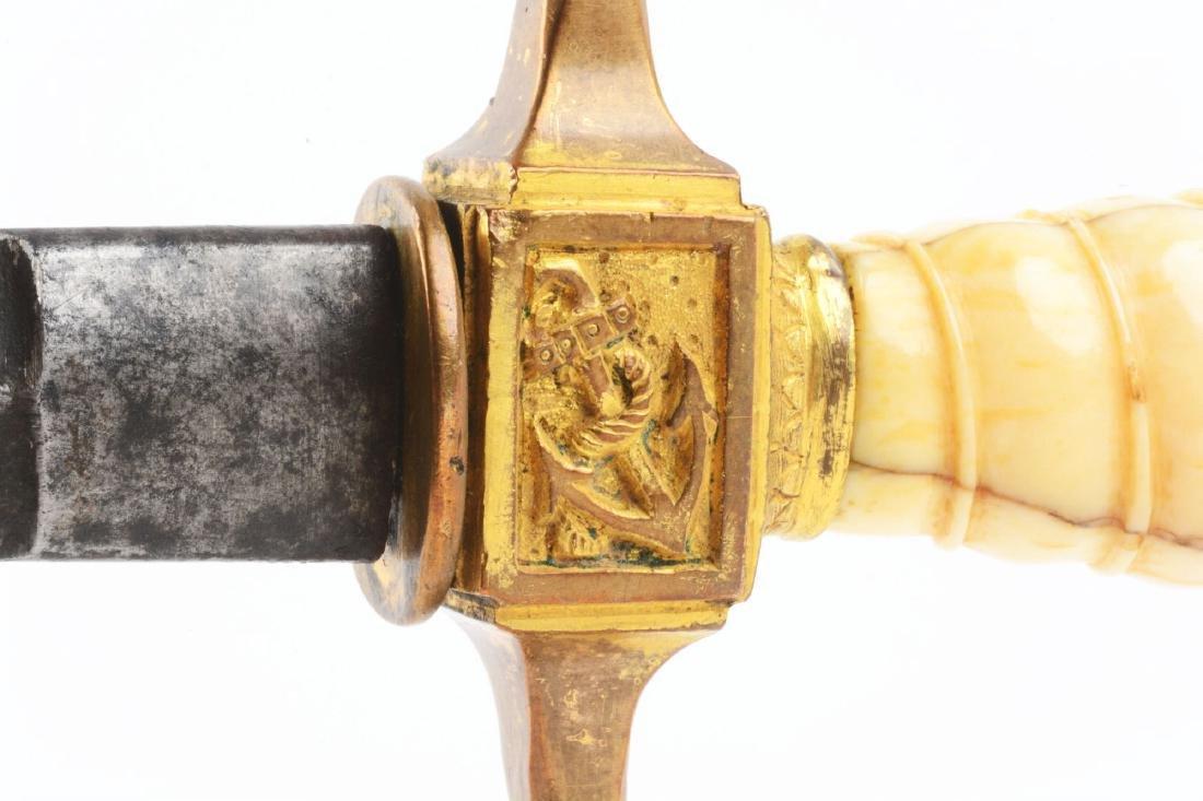 Rare 1848 Prussian Navy Dagger. - 3