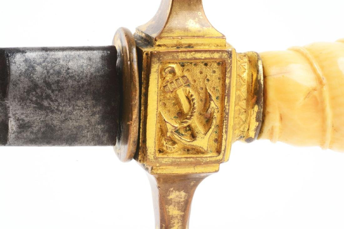 Rare 1848 Prussian Navy Dagger. - 4