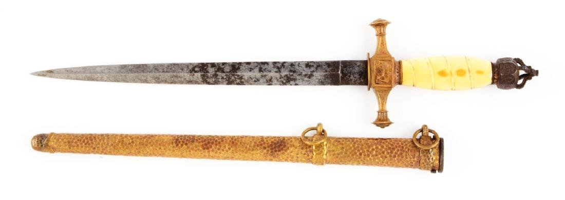 Very Rare 1848 Prussian Navy Dagger. - 2