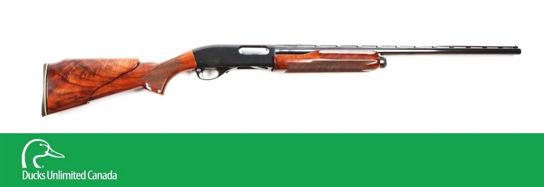 (C^) Custom Remington Model 870 Slide Action Shotgun.