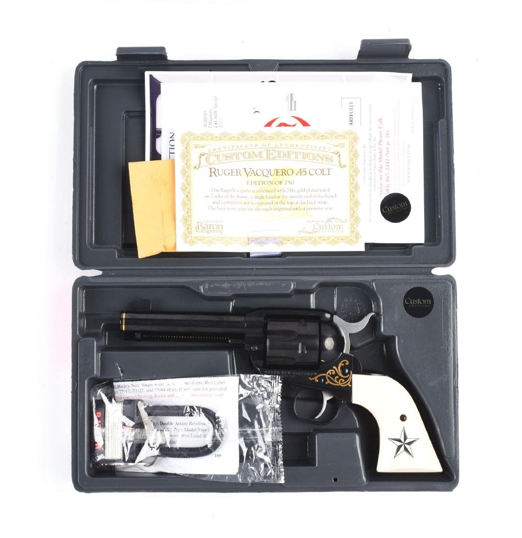 (M) Cased Ruger Custom Edition Vacquero .45 Colt  1 of