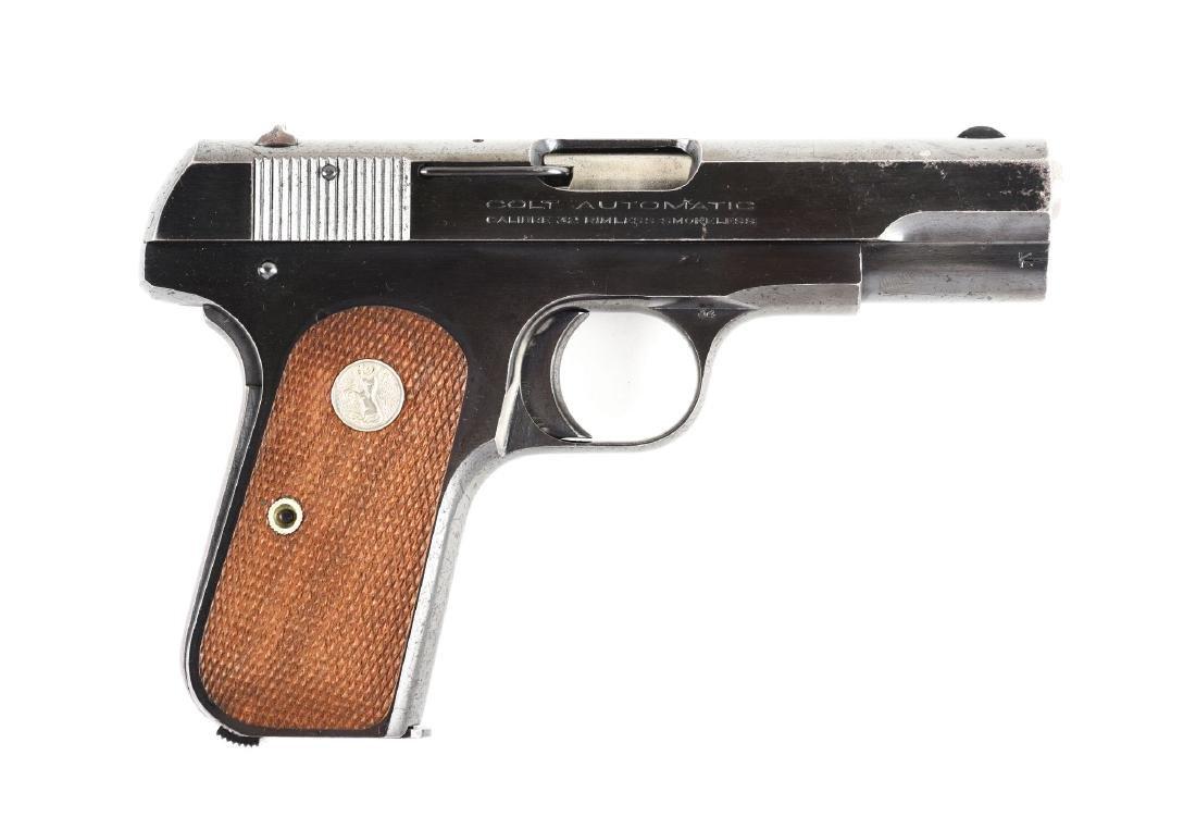 (C) Colt Model 1903 Hammerless Semi-Automatic Pistol.