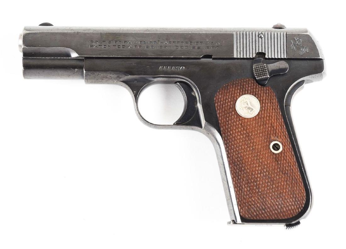 (C) Colt Model 1903 Hammerless Semi-Automatic Pistol. - 2
