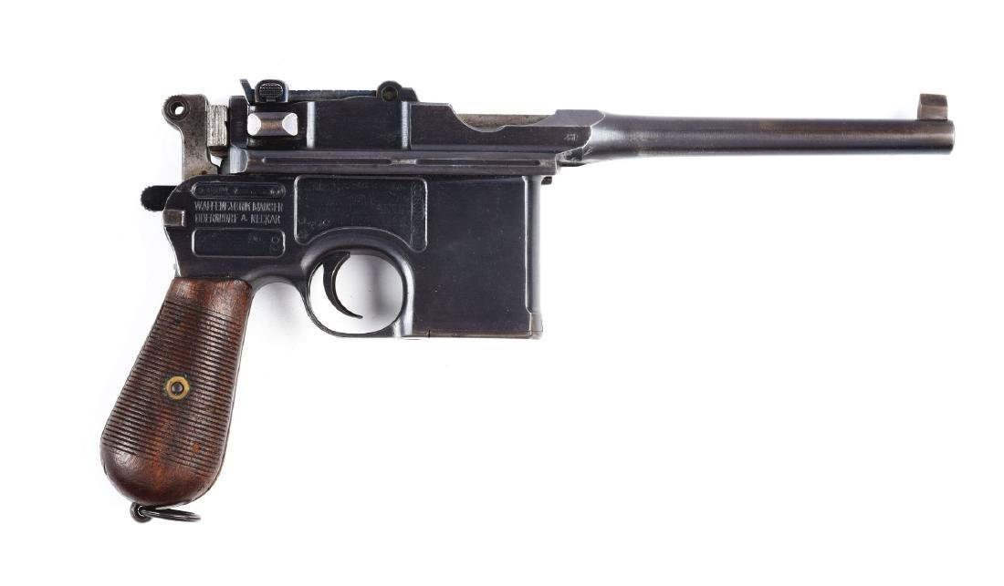 (C) Commercial Mauser Model C96 Semi-Automatic Pistol.