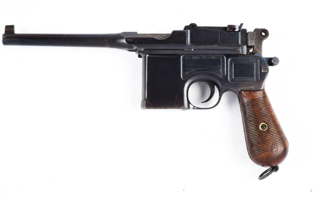 (C) Commercial Mauser Model C96 Semi-Automatic Pistol. - 2