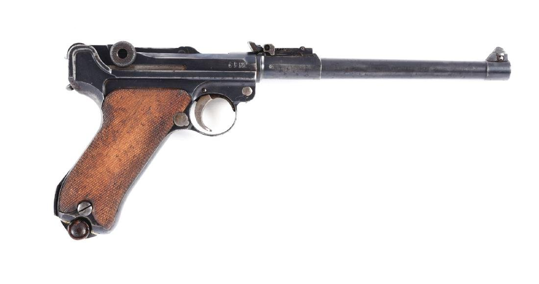 (C) DWM 1914 Artillery Luger Semi-Automatic Pistol  w/