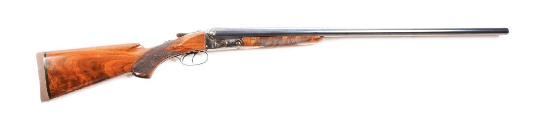 (C) A.H. Fox Sterlingworth 12 Bore SXS Shotgun.