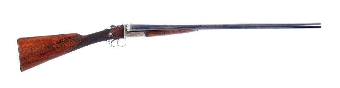 (C^) English Boxlock Double Barrel Shotgun by Webley &