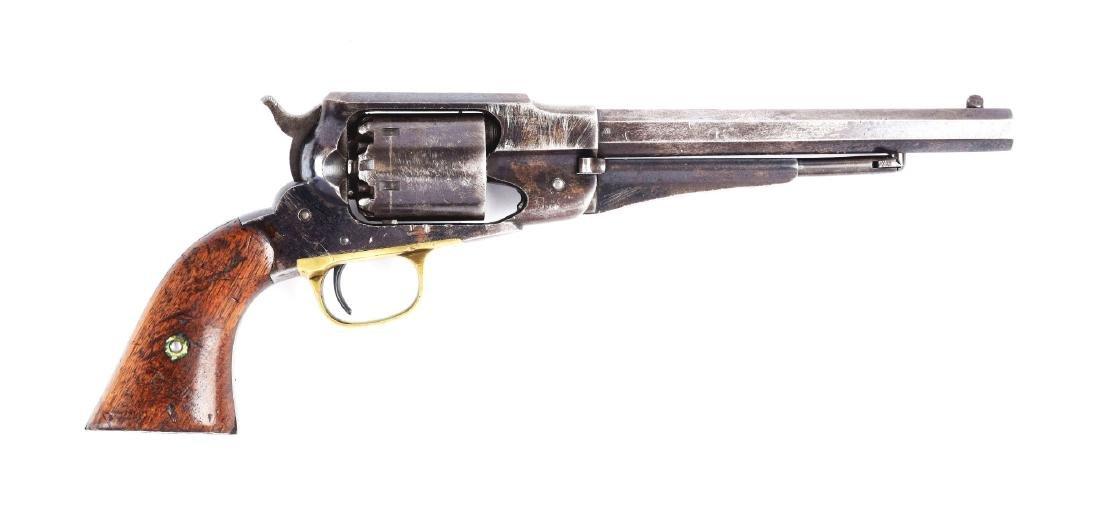 (A) Martially Marked Remington Model 1858 Revolver.
