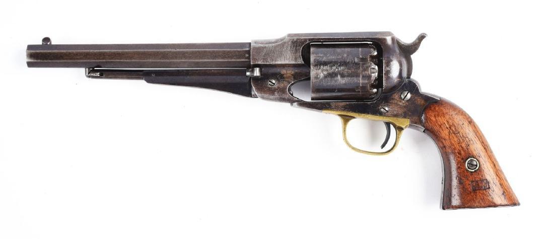 (A) Martially Marked Remington Model 1858 Revolver. - 2