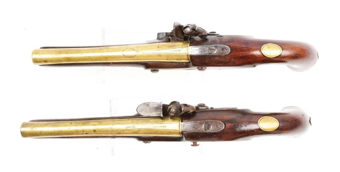 (A) Brace of Brass Barreled Flintlock Pistols by - 3