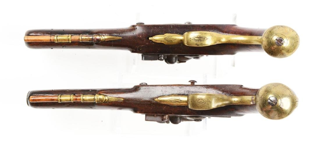 (A) Brace of Brass Barreled Flintlock Pistols by - 4