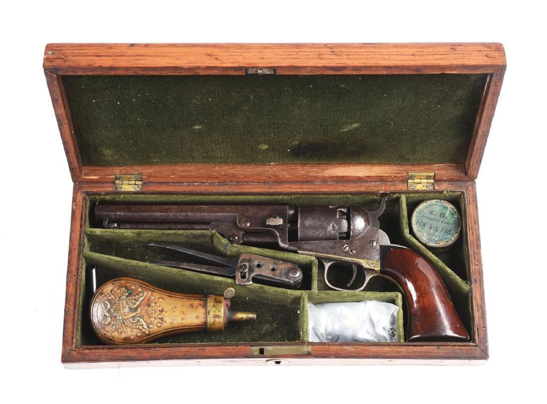 """(A) Cased Colt Model 1849 6"""" Barrel Percussion Pocket"""