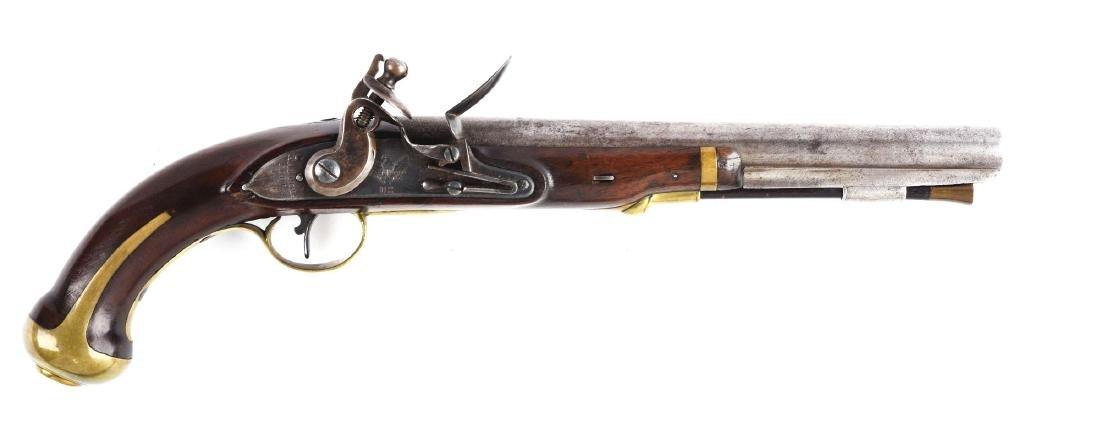 (A) U.S. Harpers Ferry Model 1805 Flintlock Pistol