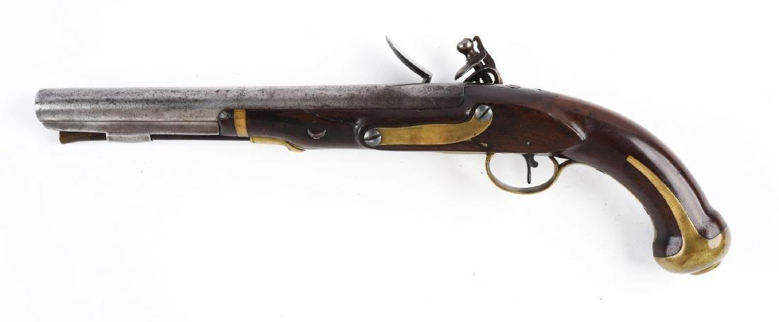 (A) U.S. Harpers Ferry Model 1805 Flintlock Pistol - 2