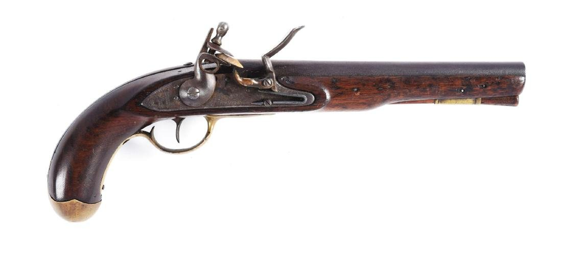 (A) U.S. Model 1808 Style Martial Pistol Marked S.