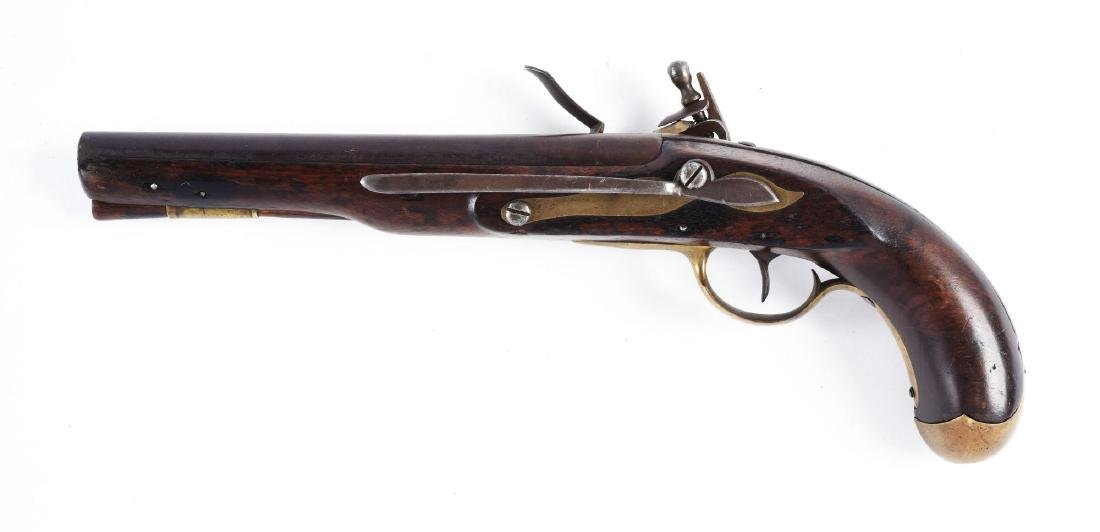 (A) U.S. Model 1808 Style Martial Pistol Marked S. - 2
