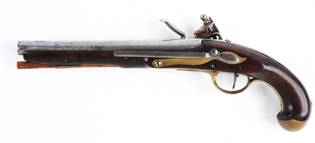 (A) U.S. Model 1808 Navy Flintlock Martial Pistol by S. - 2