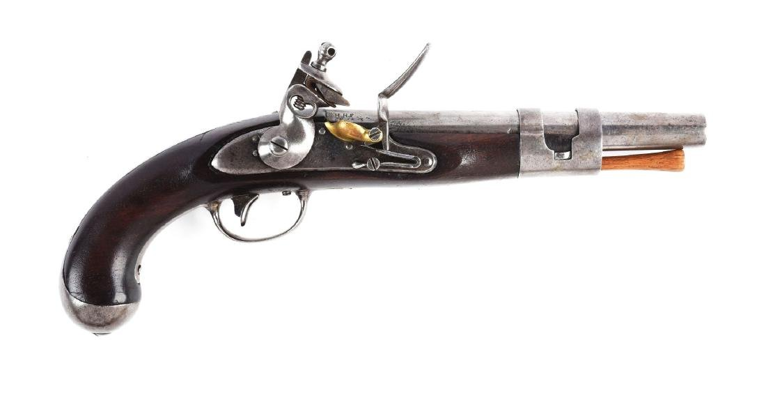 (A) U.S. Model 1813 Army Pistol by S. North.
