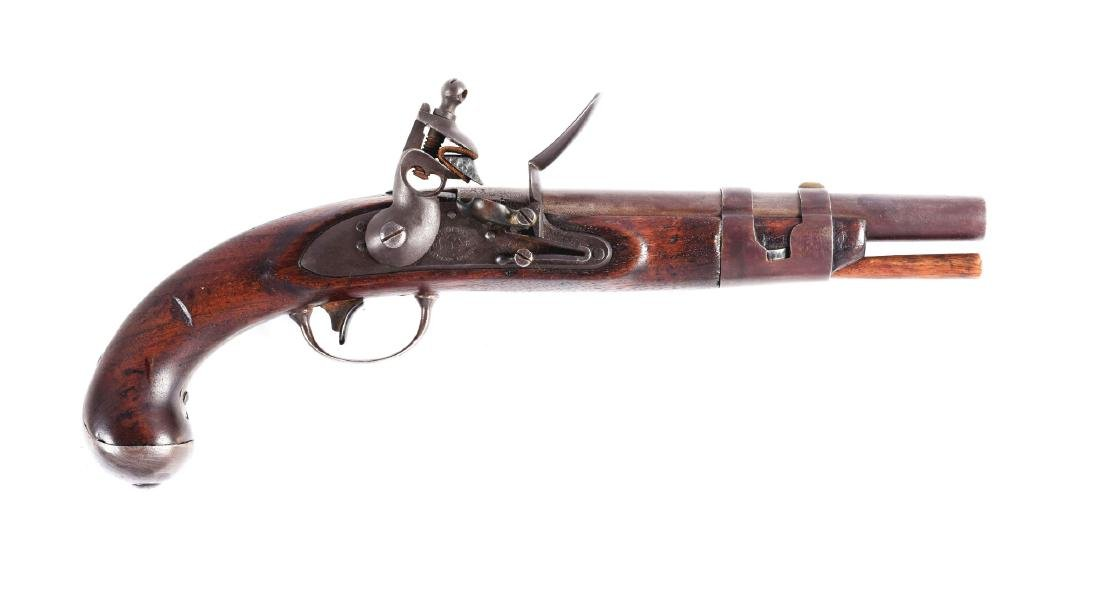 (A) U.S. Model 1816 Flintlock Martial Pistol by North.