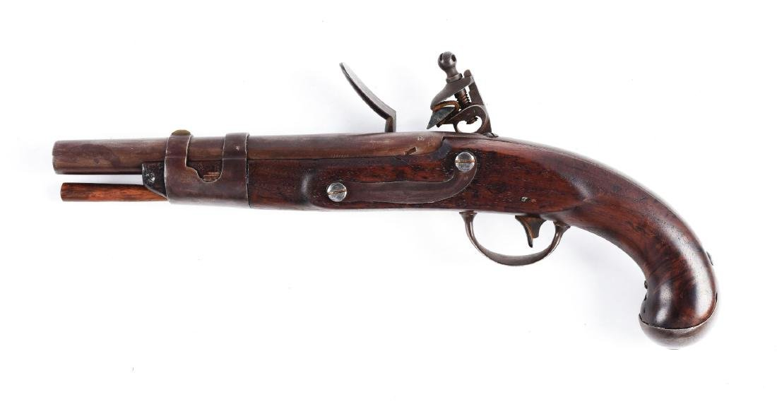 (A) U.S. Model 1816 Flintlock Martial Pistol by North. - 2