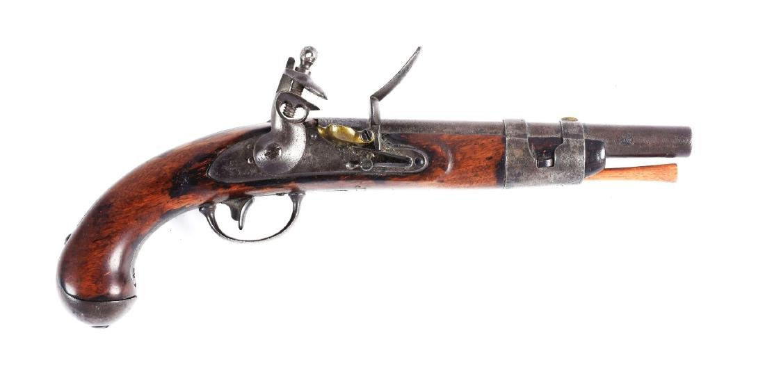 (A) S. North U.S. Model 1816 Flintlock Pistol.
