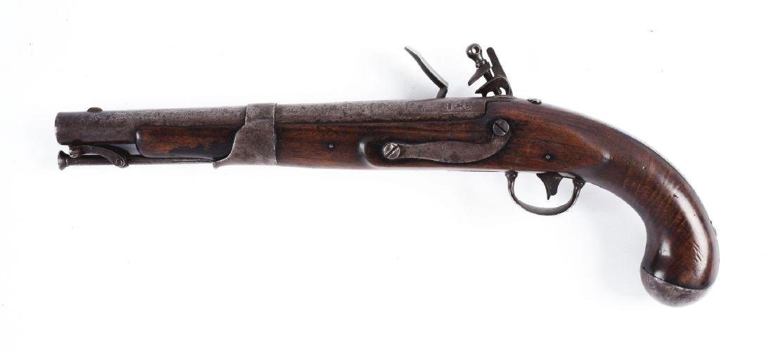(A) U.S. Model 1819 Flintlock Martial Pistol by S. - 2