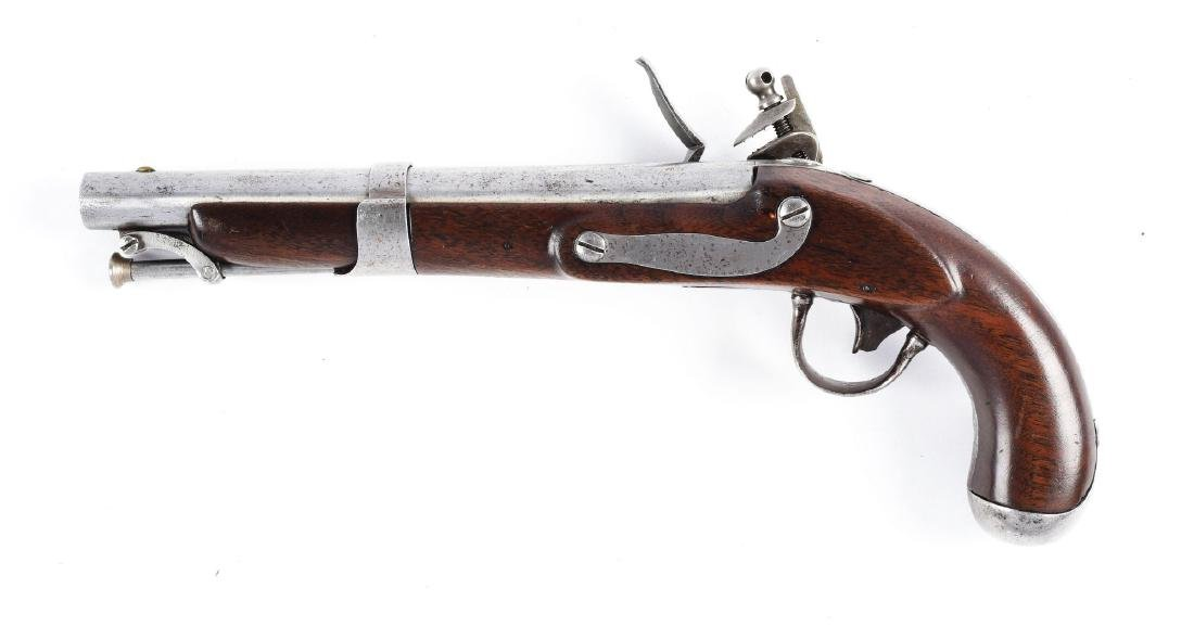 (A) J.J. Henry Model 1826 Type Flintlock Pistol. - 2