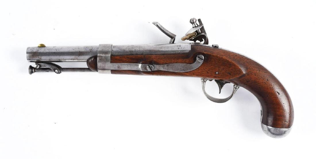 (A) U.S. Model 1836 Flintlock Martial Pistol by Waters. - 2