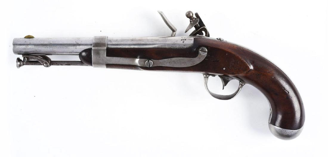 (A) U.S Model 1836 Flintlock Martial Pistol by Johnson. - 2
