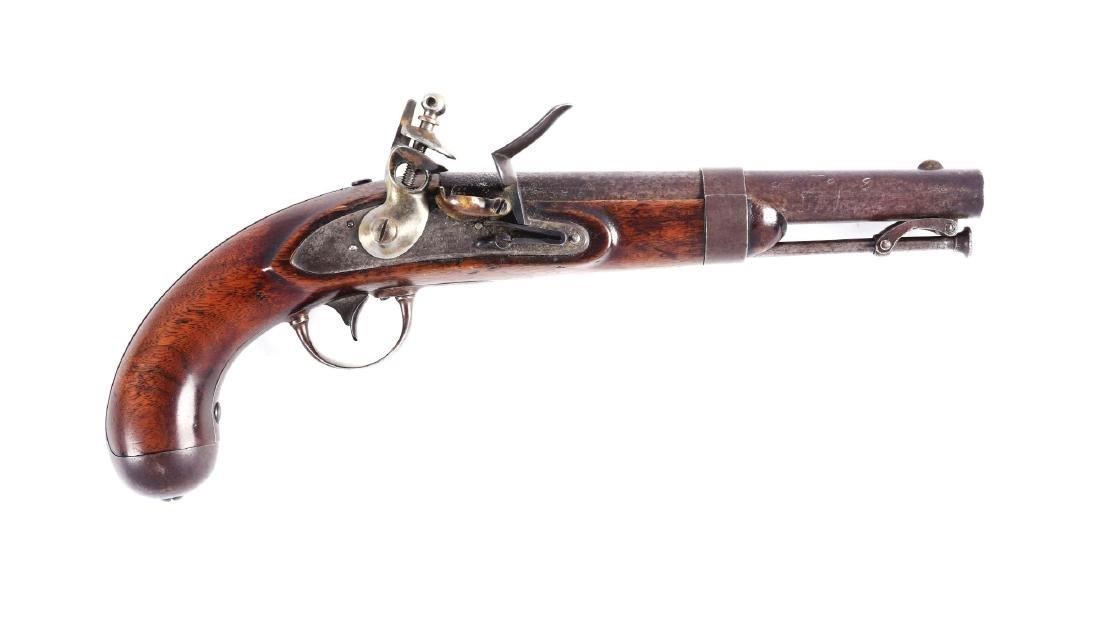 (A) U.S. Model 1836 Flintlock Single Shot Martial