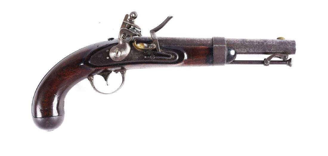 (A) U.S. Model 1836 Flintlock Martial Pistol by Waters.