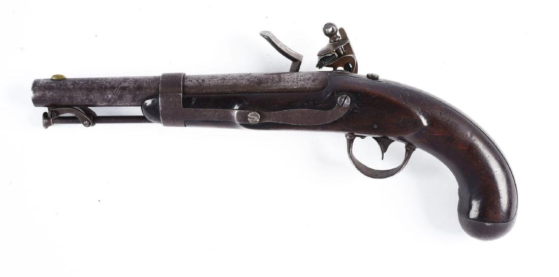 (A) U.S. Model 1836 Flintlock Martial Pistol by Waters. - 2