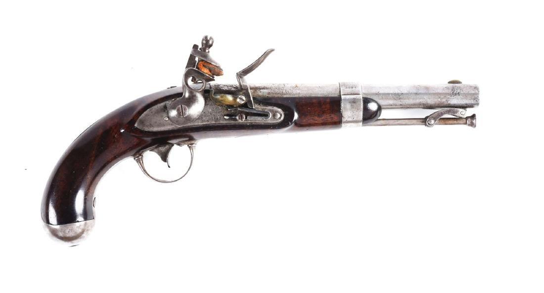 (A) U.S. Model 1836 Flintlock Martial Pistol by
