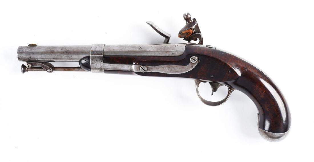 (A) U.S. Model 1836 Flintlock Martial Pistol by - 2