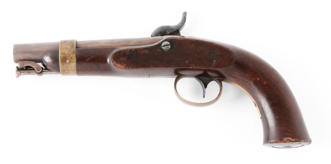 (A) N.P. Ames U.S. Navy Boxlock Percussion Pistol. - 2