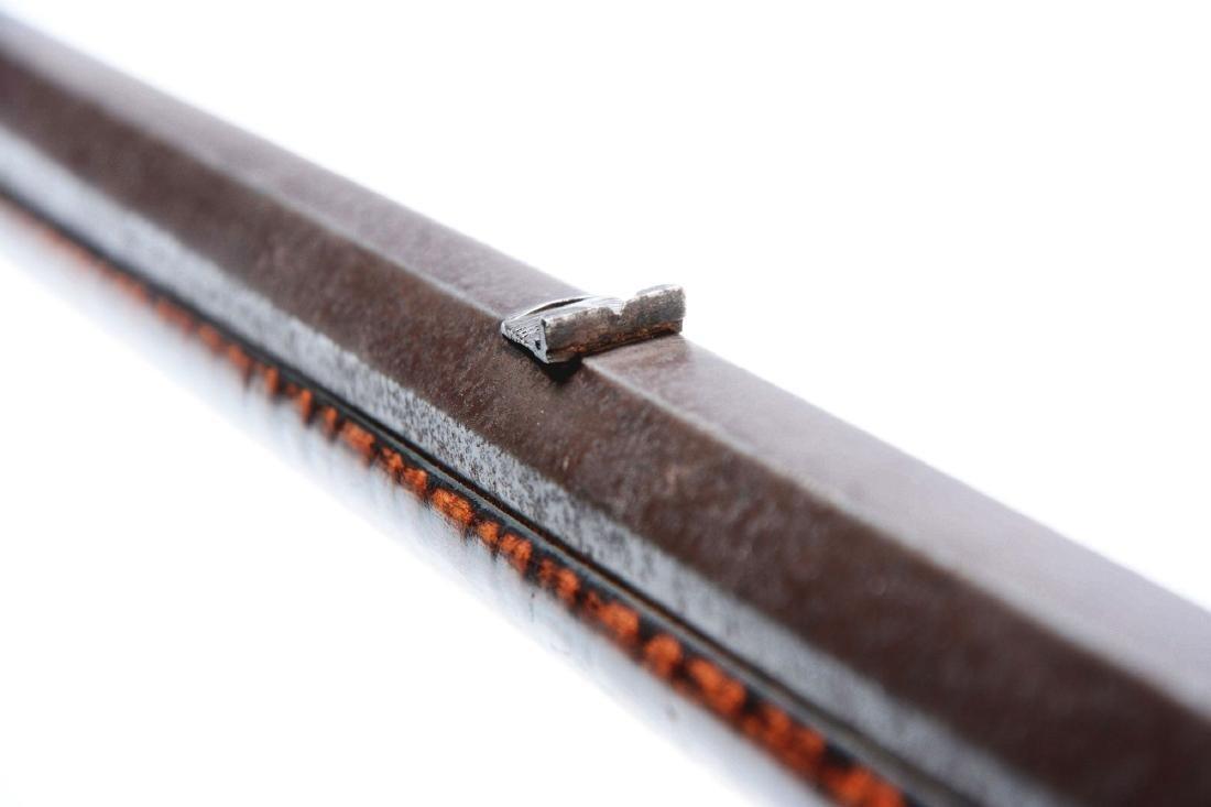 (A) Fine Carved Fullstock Flintlock Kentucky Rifle - 6