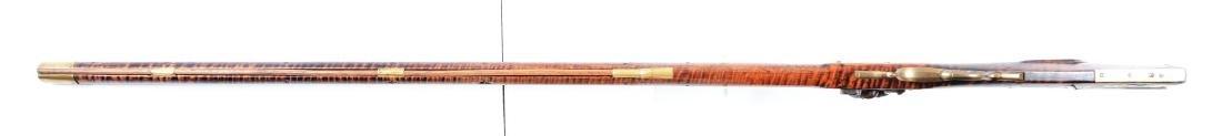 (A) Fine Carved Fullstock Flintlock Kentucky Rifle - 8