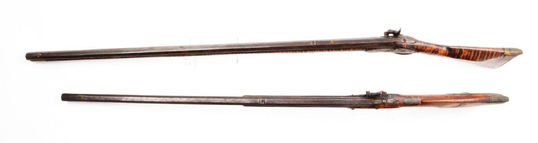 (A) Lot of 2: Percussion Kentucky Long Rifles. - 3