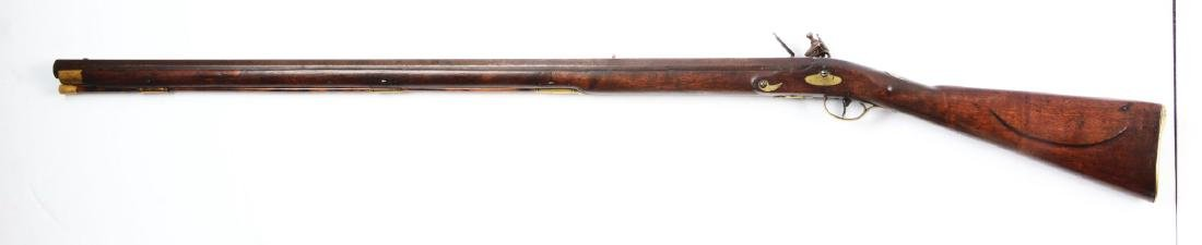 (A) Fine New England Flintlock Rifle Signed S. Allen. - 2