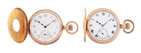 Lot of 2: Elgin Yellow Gold Pocket Watches.