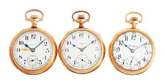 Lot of 3: Pocket Watches.