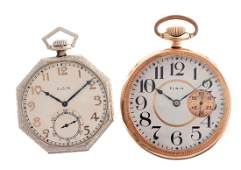 Lot of 2: Elgin Pocket Watches.