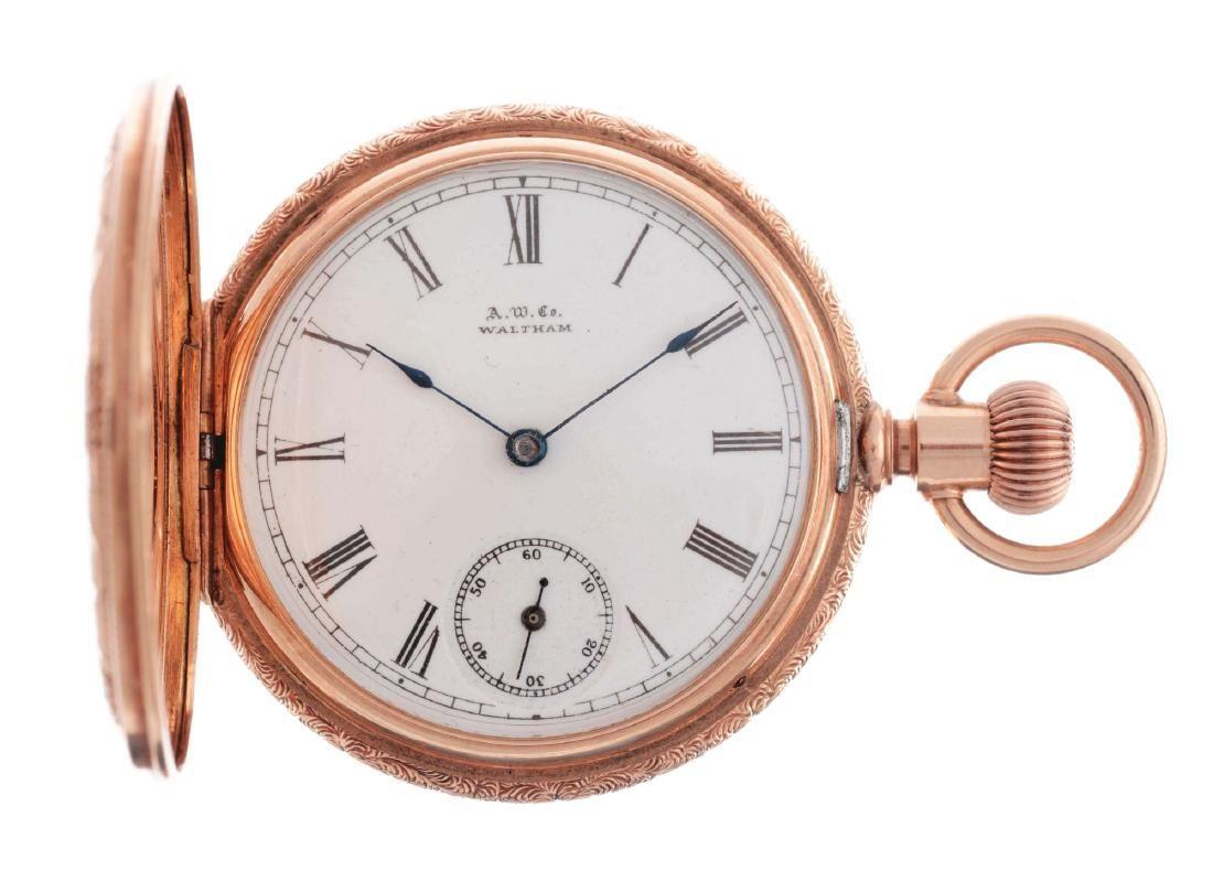 American Waltham 14K Gold H/C Pocket Watch.