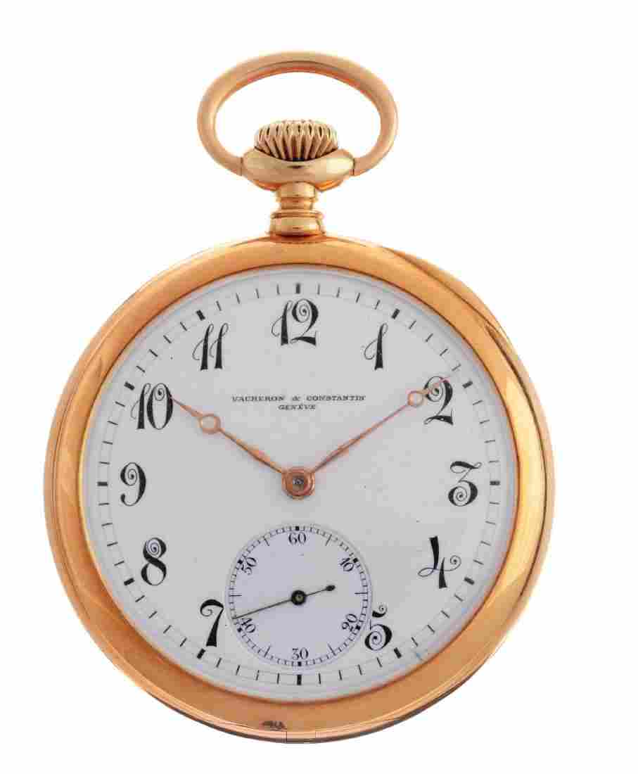 Vacheron Constantin 18K Gold O/F Pocket Watch.