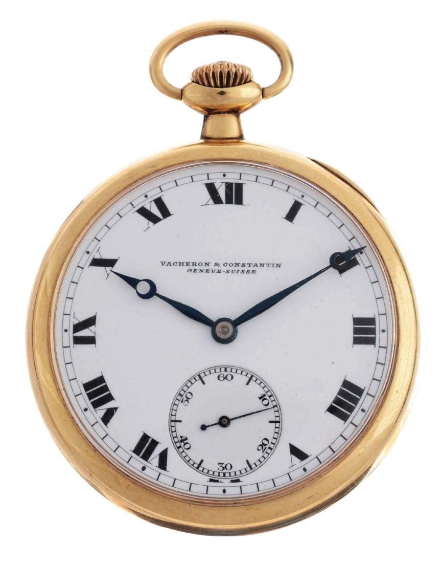 Vacheron Constantin 14K Gold O/F Pocket Watch.