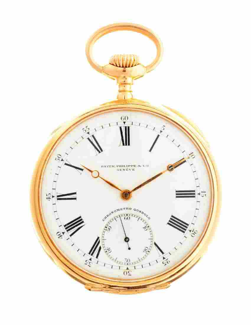 Patek Philippe 18k Yellow Gold Pocket Watch.