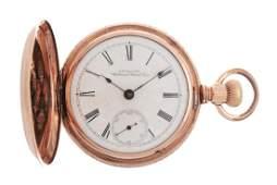 Waltham Multi-Gold & Diamond H/C Pocket Watch w/Horses.