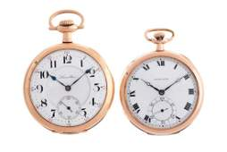 Lot of 2 Hamilton Yellow Gold Filled Pocket Watches